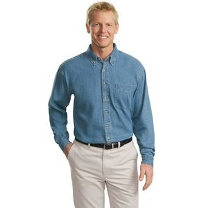 Port Authority® Tall Long Sleeve Denim Shirt