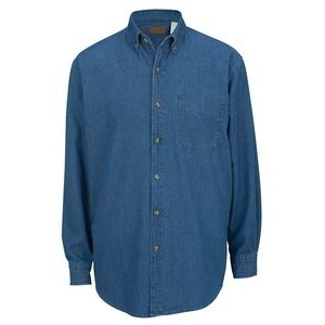 Edwards Men's Midweight Long Sleeve Denim Shirt