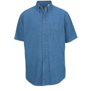 Edwards Men's Short Sleeve Mid-Weight Denim Shirt
