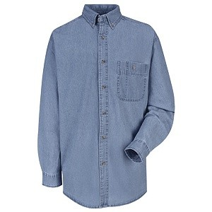 Long Sleeve Wrangler® Denim Shirt