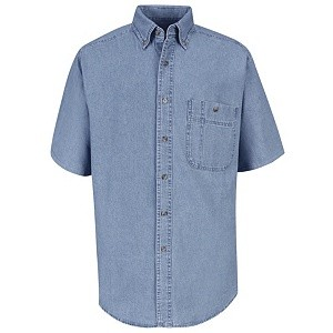 Short Sleeve Wrangler® Denim Shirt