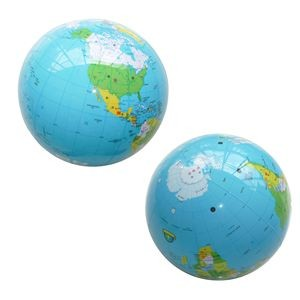 PVC 18¡± Inflatable Round World Globe Beach Ball Toy Learning